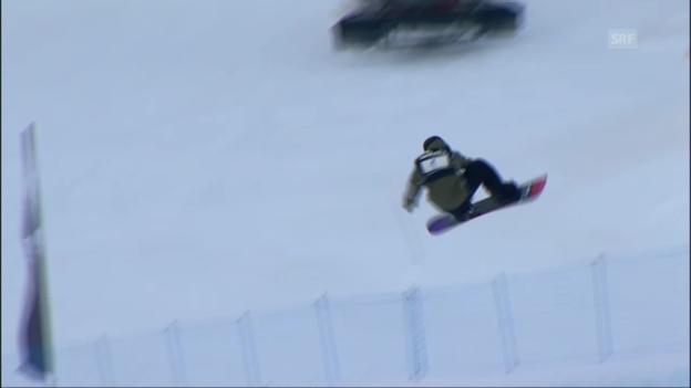 Video «Snowboard: David Hablützels 2. Run» abspielen