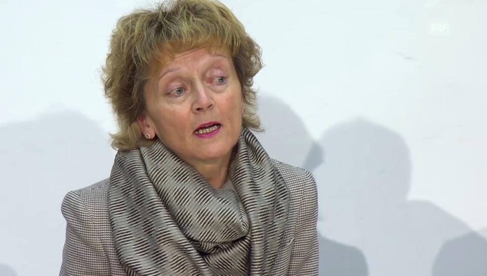 Eveline Widmer-Schlumpf mit den zusammefassenden Argumenten