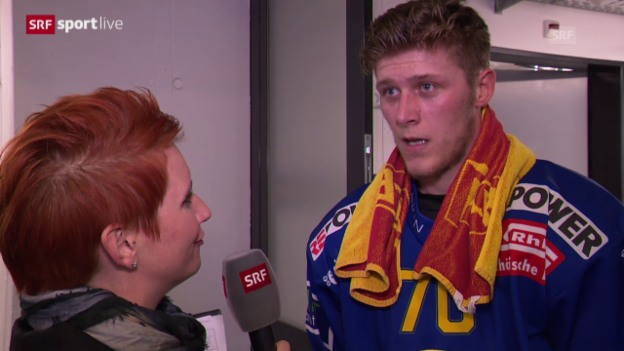 Video «Eishockey: Interview Enzo Corvi» abspielen