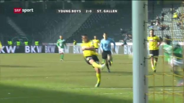 Video «Rang 6: YBs Nuzzolo gegen St. Gallen (8 %)» abspielen