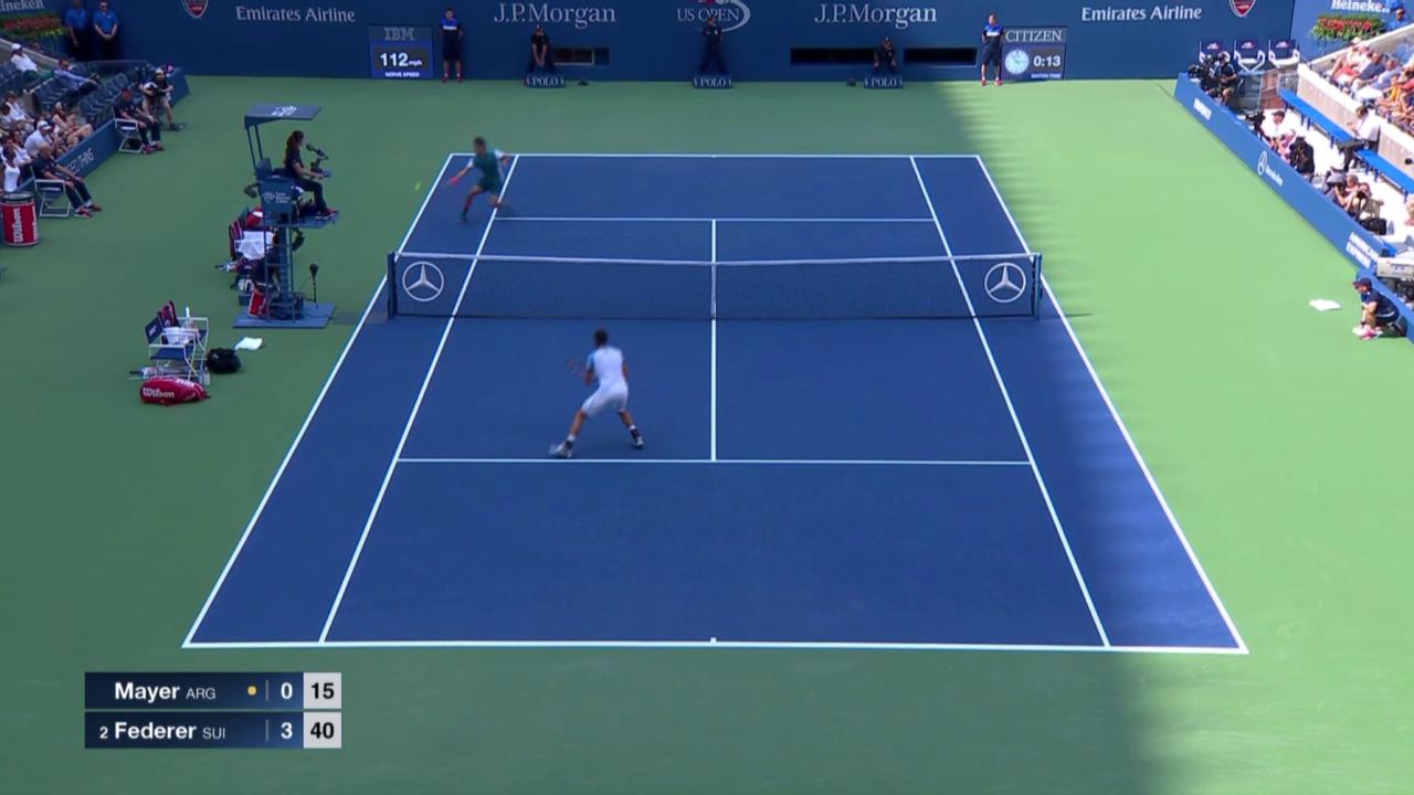 Tennis: US Open, Federer - Mayer, Punkt zum 4:0
