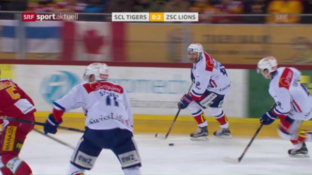 Video «SCL Tigers - ZSC Lions: Das 2. Drittel» abspielen