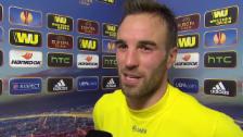 Video «Fussball: Europa League, Everton - YB, Interview mit Scott Sutter» abspielen