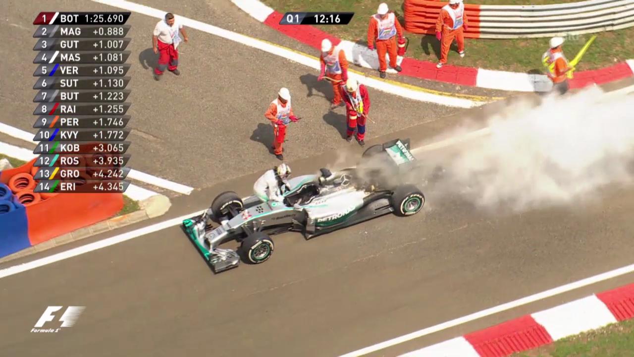 Formel 1: GP Ungarn, Qualifying, Motorschaden Hamilton