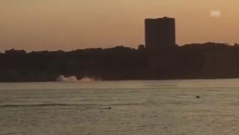 Kleinflugzeug stürzt in Hudson River