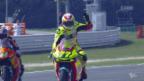 Video «Dovizioso gewinnt MotoGP-Rennen – Aegerter und Raffin punkten in der Moto2» abspielen