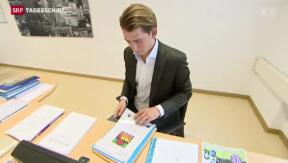 Video «Österreich ernennt Jurastudent zum Aussenminister» abspielen