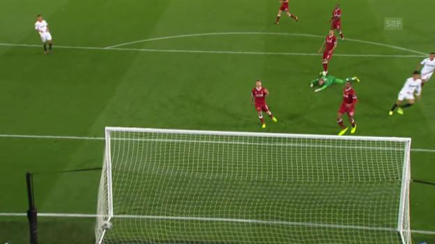 Video «Sevilla entführt einen Punkt aus Liverpool» abspielen