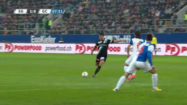 Fussball: St. Gallen - GC (Torversion)