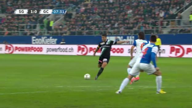 Video «Fussball: St. Gallen - GC (Torversion)» abspielen