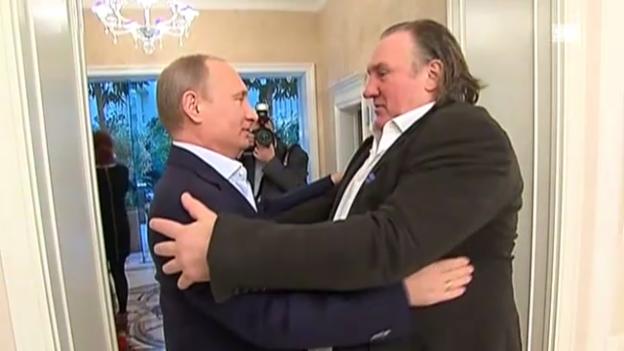 Video «Depardieu zu Gast bei Putin (unkommentiert)» abspielen