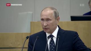 Video «Putins Selbstbewusstsein gegenüber dem Westen» abspielen