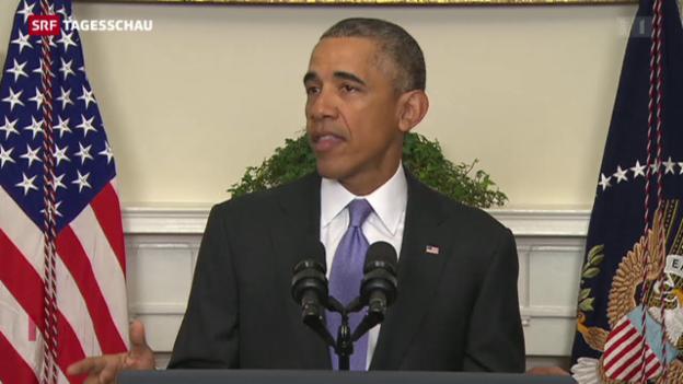 Video «Obama dankt, Burkhalter gibt sich bescheiden» abspielen