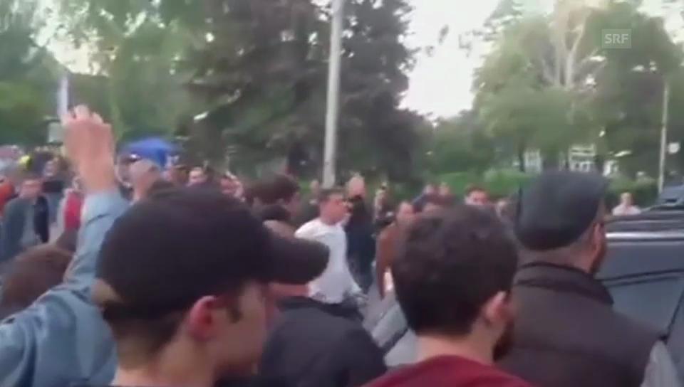 Schüsse in Krasnoarmeisk – ein Amateurvideo