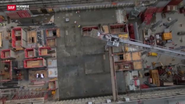 Video «Das bald höchste Gebäude der Schweiz wächst und wächst» abspielen