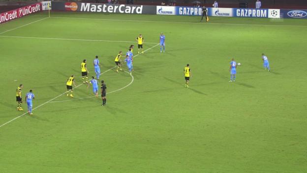 Video «Fussball: Napoli - Dortmund» abspielen