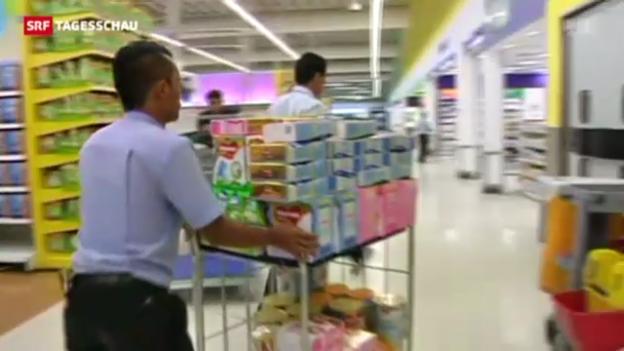 Video «Milchprodukte in Asien zurückgerufen» abspielen
