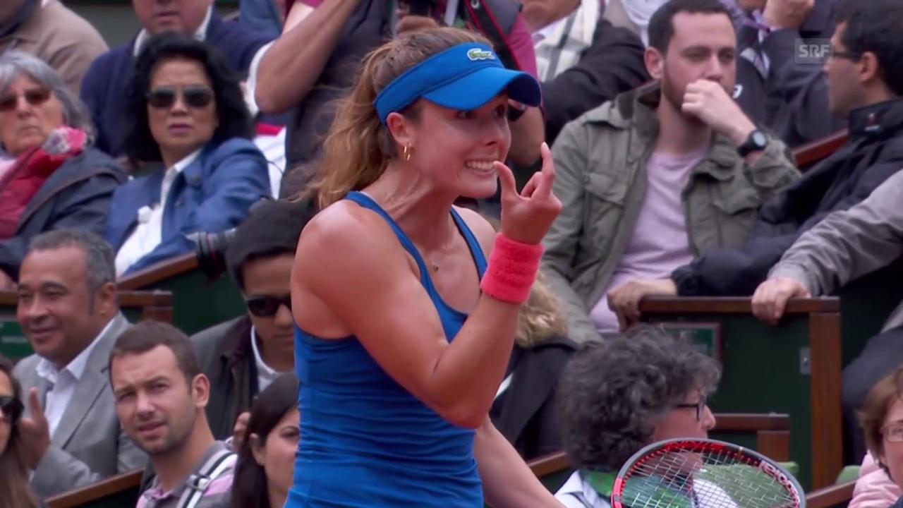 Tennis: French Open, Switolina-Cornet, umstrittener Ball