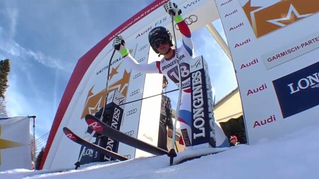 Video «Ski alpin: Weltcup Frauen, Super-G Garmisch, Fahrt Gut» abspielen