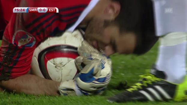 Video «Fussball: EM-Quali, San Marino - Estland» abspielen
