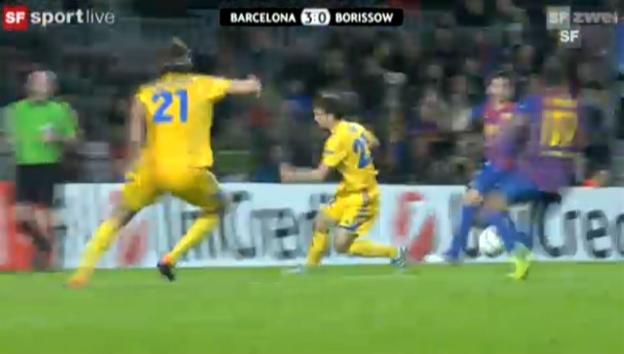 Video «CL: Barcelona - BATE Borissow» abspielen