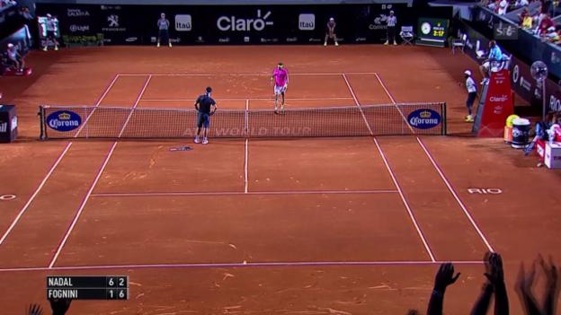 Video «Tennis: ATP Rio de Janeiro, Highlights Halbfinal Nadal - Fognini (SNTV)» abspielen