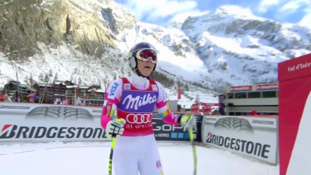 Video «Ski: Die Siegesfahrt von Lindsay Vonn in Val d'Isere» abspielen