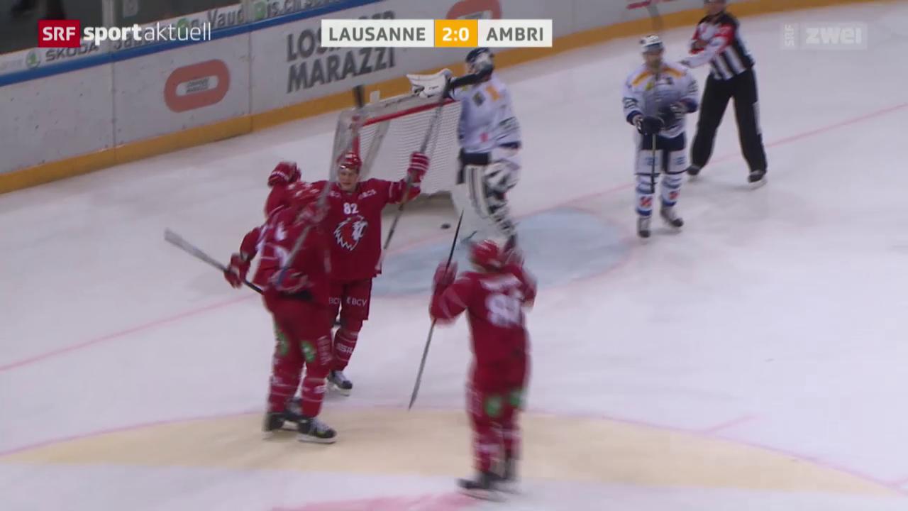 Eishockey: NLA, Lausanne-Ambri