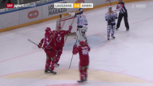 Video «Eishockey: NLA, Lausanne-Ambri» abspielen