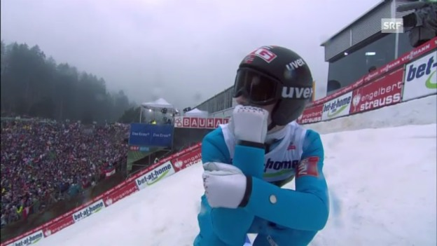 Video «Skispringen: 2. Sprung von Anders Jacobsen in Innsbruck» abspielen