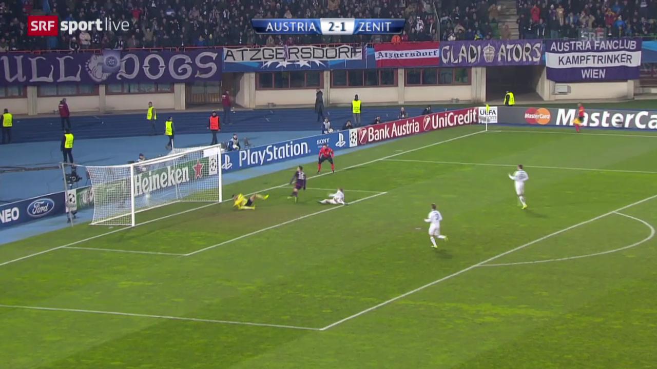 Fussball: CL, Austria - Zenit («sportlive», 11.12.2013)
