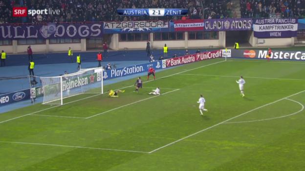 Video «Fussball: CL, Austria - Zenit («sportlive», 11.12.2013)» abspielen