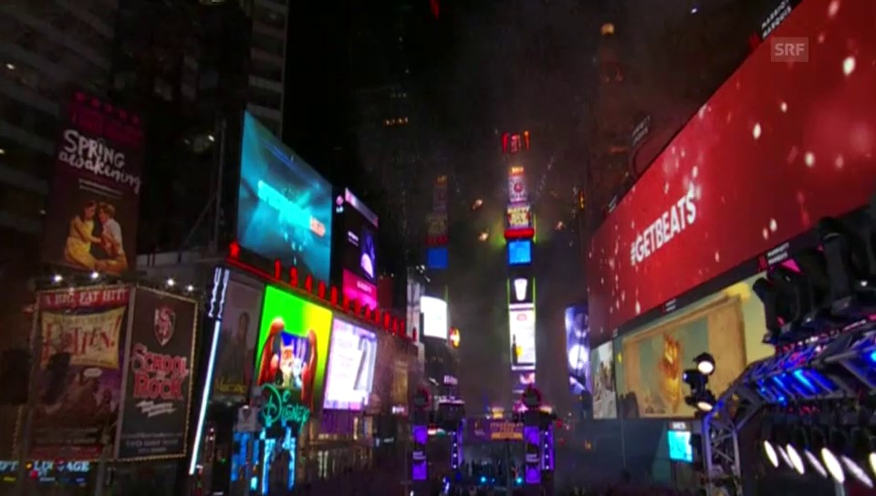 Silvester am New Yorker Times Square