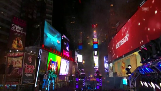 Laschar ir video «Silvester am New Yorker Times Square»