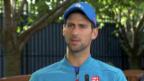 Video «Djokovic: «Ich erwarte eine grosse Schlacht»» abspielen