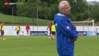 Video «Fussball: Die Schweizer Nati im WM-Vorbereitungscamp in Weggis» abspielen