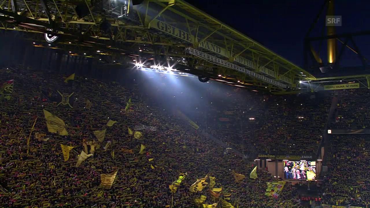 Dortmund- und Liverpoolfans singen gemeinsam «You'll never walk alone»