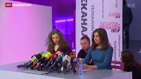Video «Pussy Riot bleiben auf Konfrontationskurs» abspielen