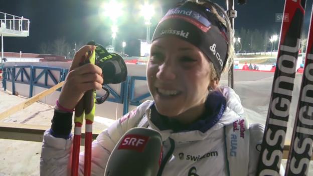 Video «Biathlon: Weltcup Östersund, Interview Elisa Gasparin» abspielen