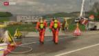 Video «Aufräumarbeiten nach Zugunfall» abspielen