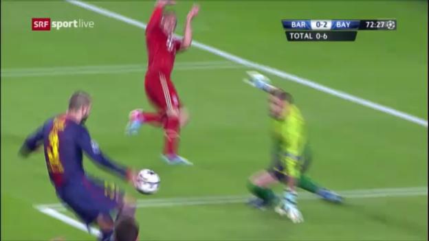 Video «Fussball: CL-Halbfinal Barcelona - Bayern München» abspielen