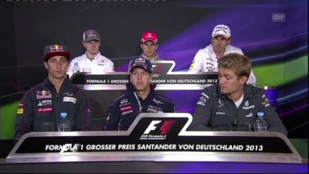 Video «Sebastian Vettel über die Reifen-Krise» abspielen