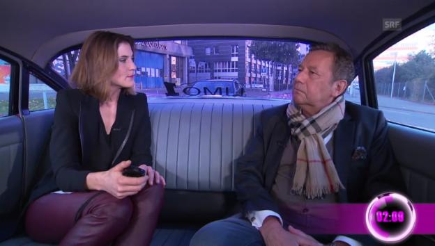 Video «Annina Frey: In der Limo mit Roland Kaiser» abspielen