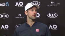 Link öffnet eine Lightbox. Video Djokovic: «Ich muss es akzeptieren» (englisch) abspielen