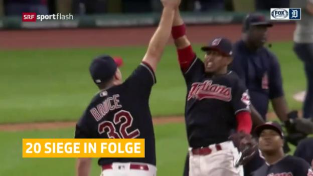 Video «Cleveland Indians: aktuell unschlagbar» abspielen