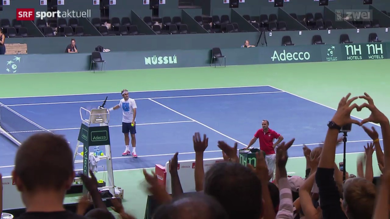 Tennis: Die Schweizer vor dem Davis-Cup-Halbfinal