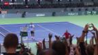 Video «Tennis: Die Schweizer vor dem Davis-Cup-Halbfinal» abspielen