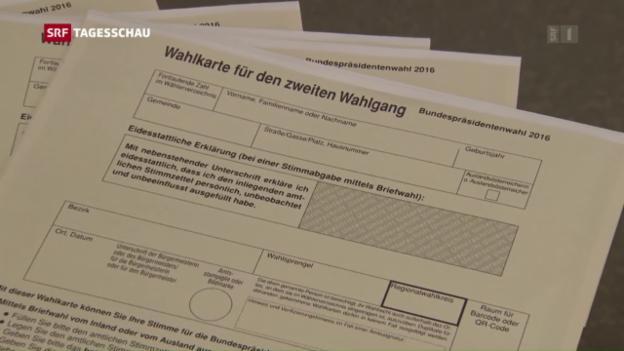 Video «Folgen der unverschlossenen Wahlzettel» abspielen