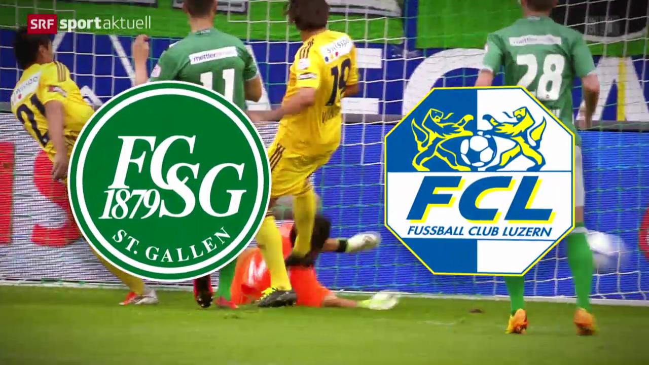 Das Live-Spiel der St. Gallen gegen Luzern