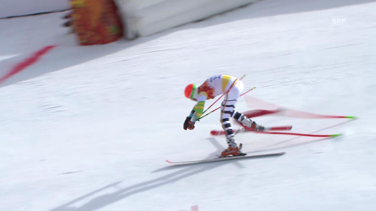 Ski: Riesenslalom Männer Sotschi, Ausfall von Stefan Luitz im 1. Lauf (sotschi direkt, 19.2.14)